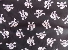 jolly roger skull and crossbones fabric sold per metre
